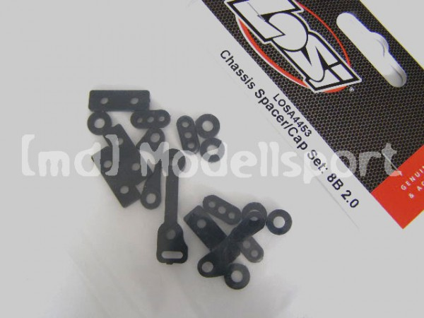 Losi Chassis Spacer/Cap 8B 2.0