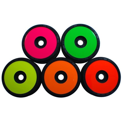 Wheel Sticker Disks 1:8 Fluo Pink